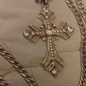 Stainless steel religious cross necklace